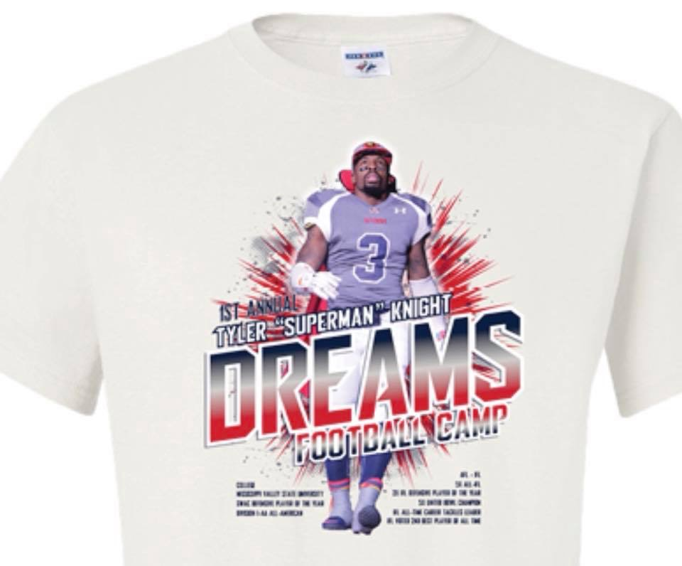 1st Annual Dreams Football Camp Shirt